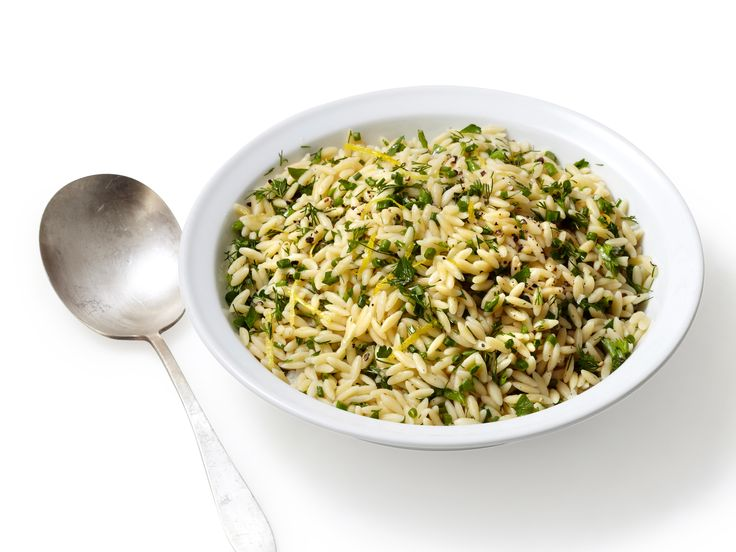 Lemon-Herb Orzo from FoodNetwork.com. Cooked in 3.25 c chicken stock ...