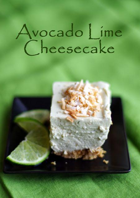No Bake Avocado Lime Cheesecake....good now, perfect for summer!