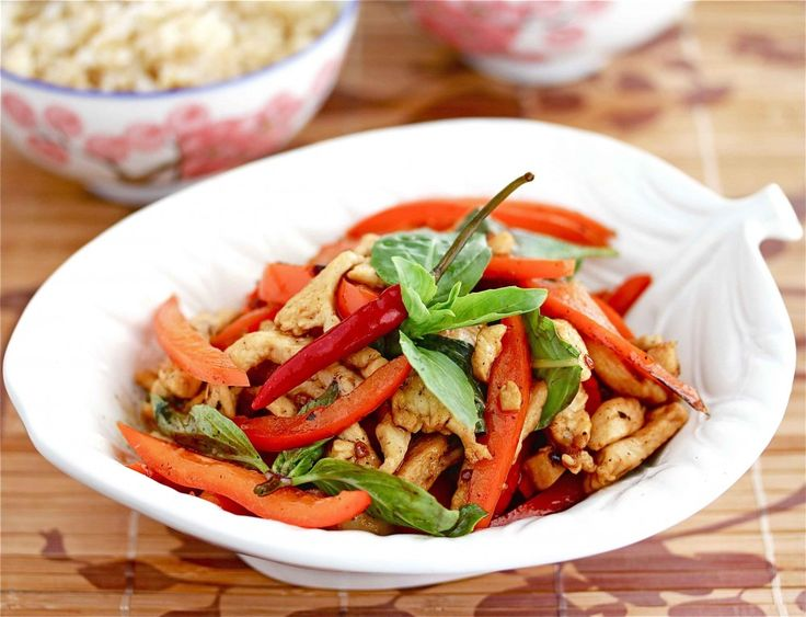 Stir-Fried Thai Chicken with Peppers   Recipe
