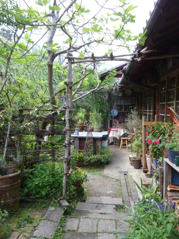 Japanese garden arch and fence Garden Ideas Pinterest