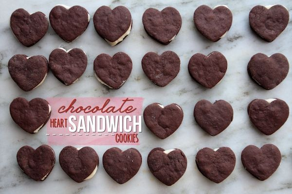 Chocolate Heart Sandwich Cookies | Valentine's Day Treats & Decor | P...