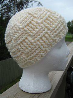 95 - Crochet Basket Weave Hat Pattern