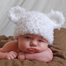 Bub crochet beanie Beautiful Babies Pinterest