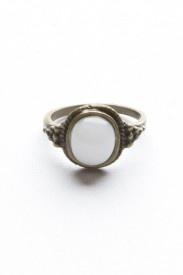 Golden White Stone Ring