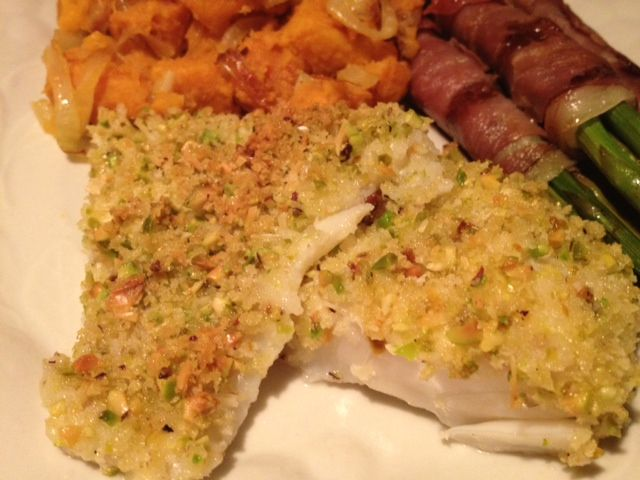 Cod with Pistachio-Crumb Coating | Fish | Pinterest
