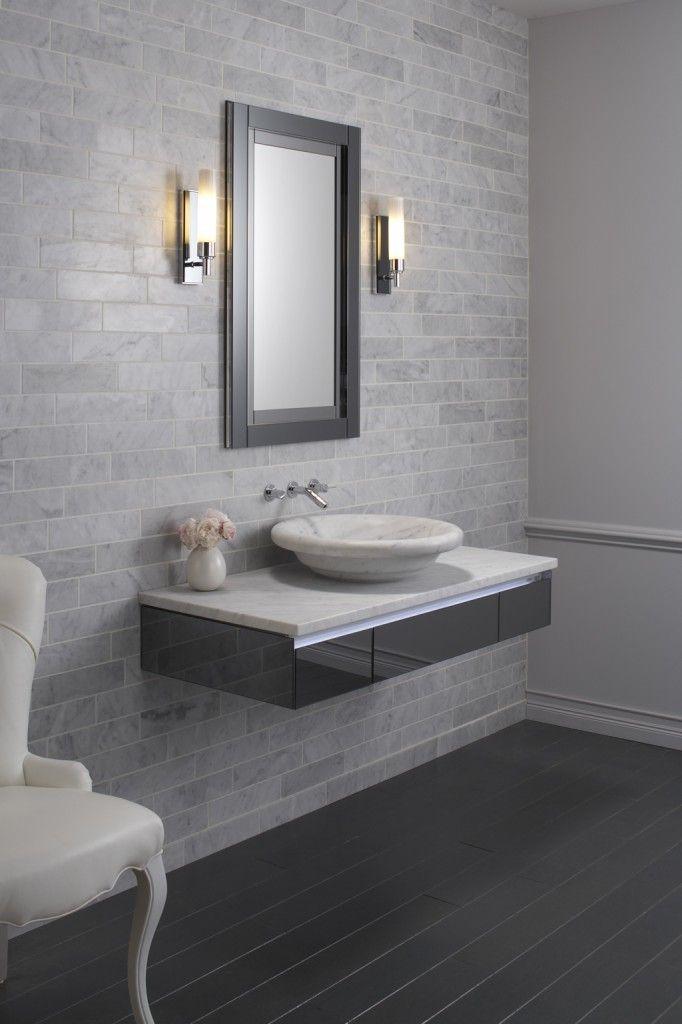 Floating vanity amazing bathrooms pinterest for Floating vanity design