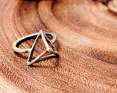 Sterling Silver Tetrahedron Ring