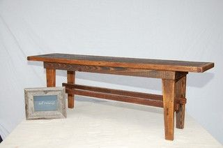 Beautifully Handcrafted Bench Made Of Reclaimed Wood From