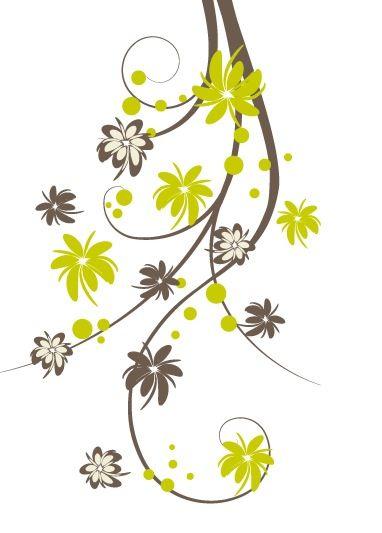 Fleurs stylis es fleurs multicolores pinterest for Pinterest flur