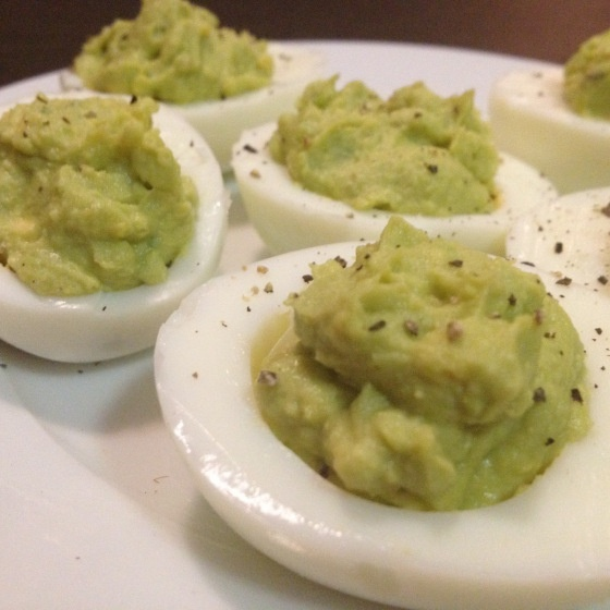 Snack: Avocado Deviled Eggs_Daily Crazy Beautiful Blog