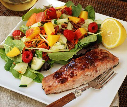 Salmon With Raspberry Ginger Glaze Recipe — Dishmaps