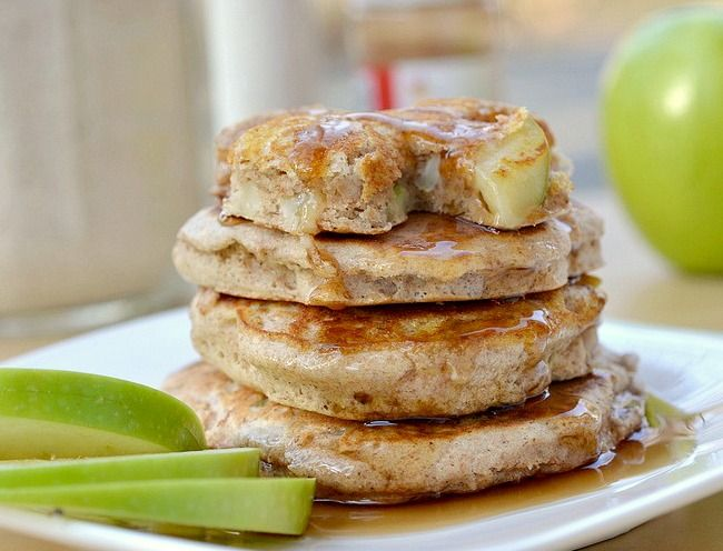 Fluffy apple pancakes...Yum! Just made these this morning.