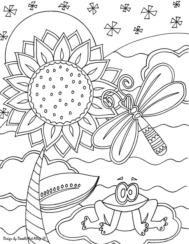 Heart doodle art coloring pages coloring pages for Doodle art alley coloring pages