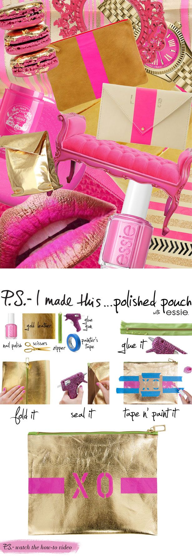 P.S.-I made this...Polished Pouch featuring @essie shade of the month: #madisonavehue