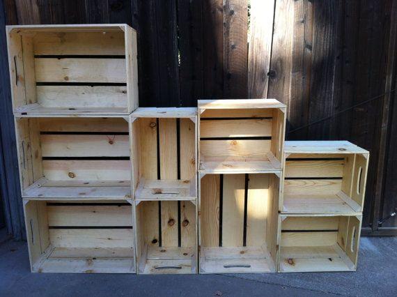 Wooden Crates as Bookshelves 570 x 426