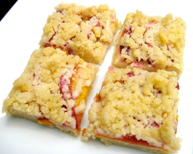 Peach Crumble Bars | food | Pinterest