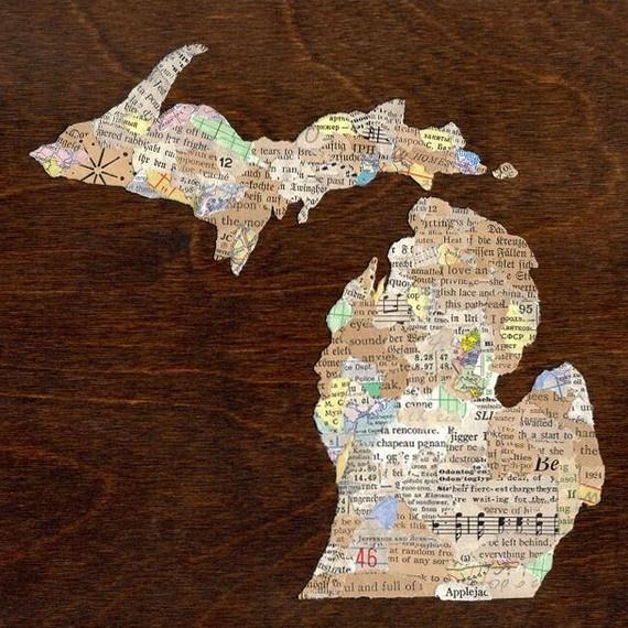 Michigan collage print