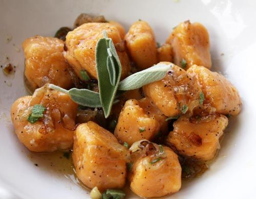 Sweet Potato Gnocchi in Brown butter sage sauce | Food Porn ...