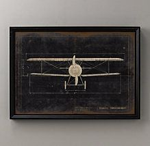 Model G Airplane Blueprint   Restoration Hardware Baby & Child