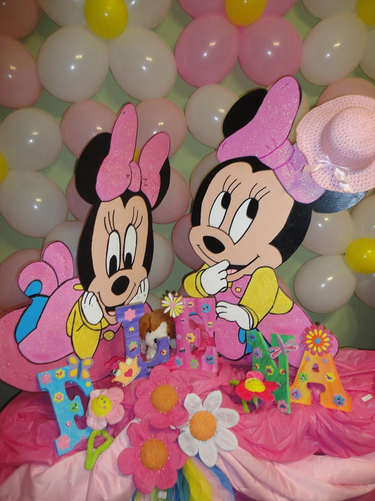 Baby minnie mouse baby shower decorations best baby for Baby birthday decoration items