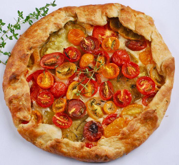 Tomato galette | Savory | Pinterest