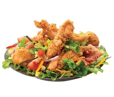 Joe's Crab Shack Chicken Fried Salad--Romaine, Crispy Chicken tenders ...