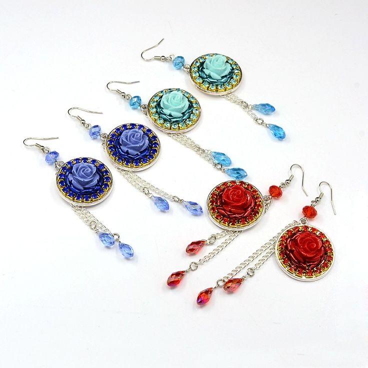 Pandahall Beads: PandaHall Jewelry—Resin Flower Earrings With Electroplated