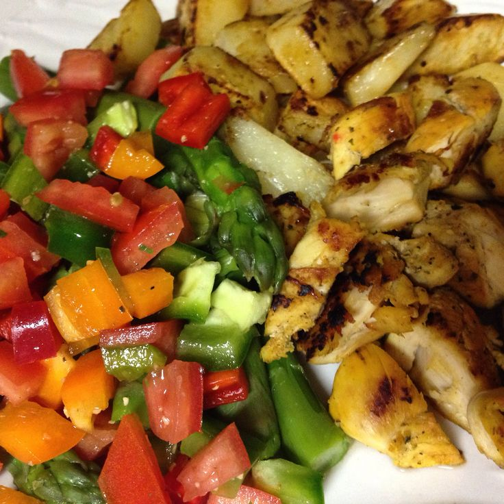 ... salt and pepper and vinegar, grilled chicken and sautéed potatoes