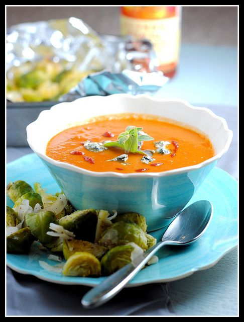 ... key tomato soup with bacon grilled cheese spicy tomato and blue cheese