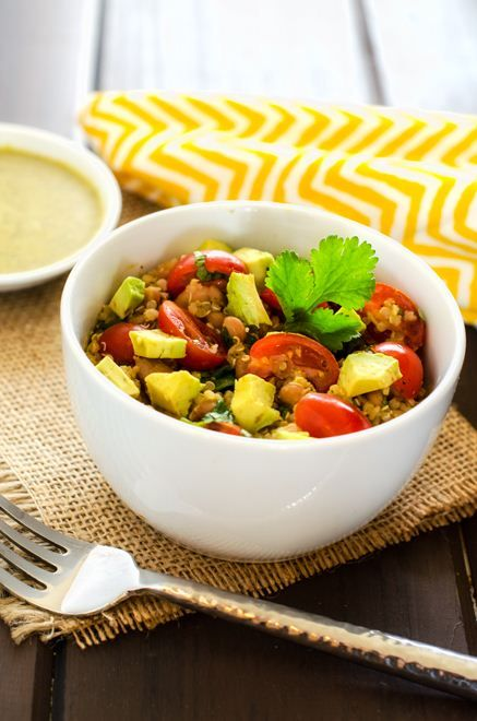 Avocado Quinoa Salad with Chipotle Lime Dressing ~The dressing was not ...
