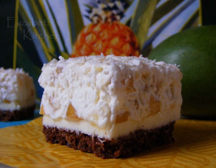 Caribbean Dream Squares - with leftover Gingerbread house crumbs
