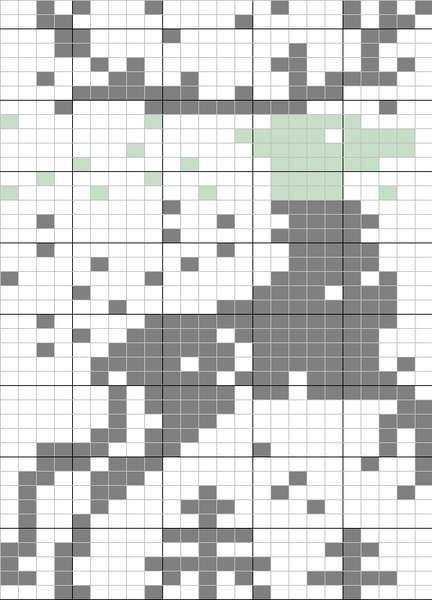 Reindeer Knitting Pattern Chart : Knitting chart - fair isle? Woolly Wonders.. Pinterest