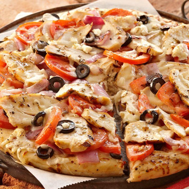Grilled Greek Pizza Recipe — Dishmaps