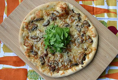 Porcini Mushroom and Onion Pizza. My three favorite things in the ...