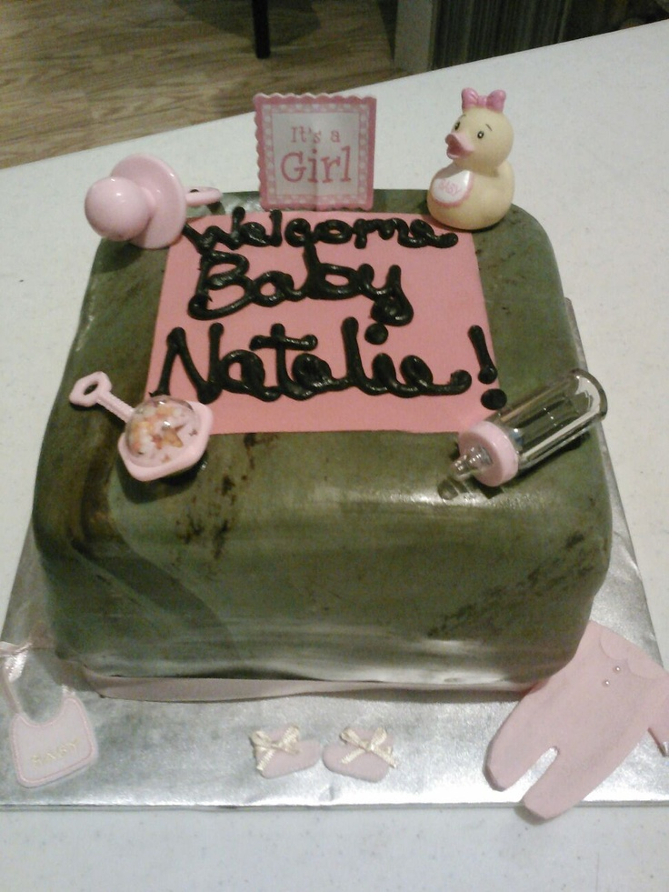 camo girl baby shower cake for baby showers pinterest