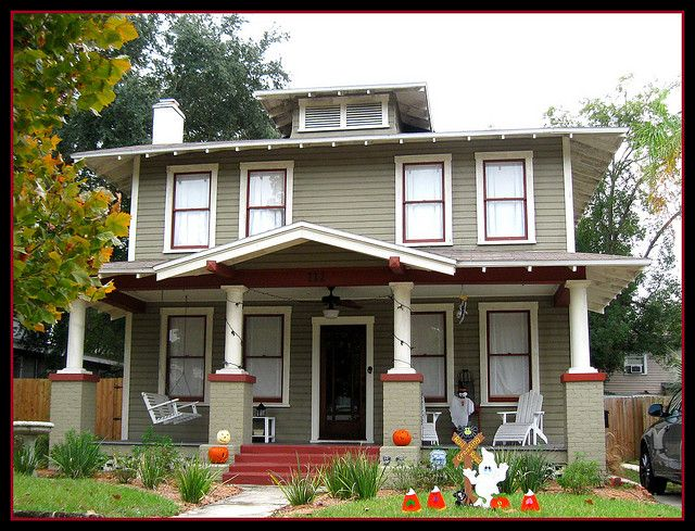 type of house american foursquare house. Black Bedroom Furniture Sets. Home Design Ideas