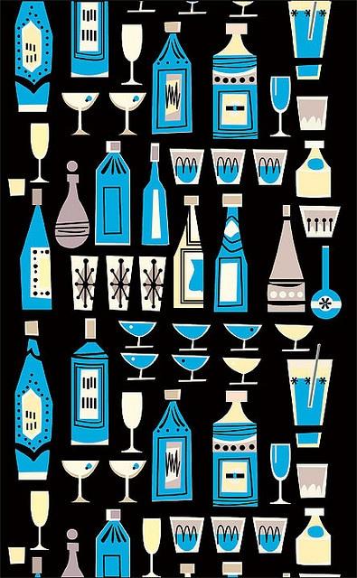 Drink Up vintage pattern