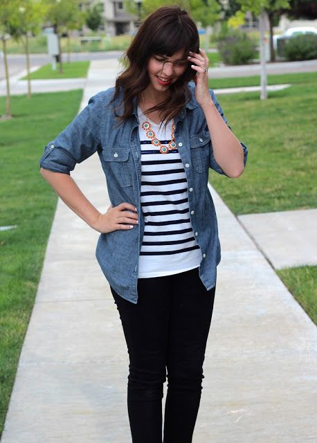Liking chambray with stripes!