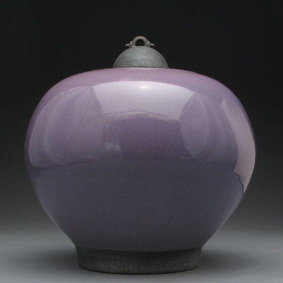 Purple glazed pottery