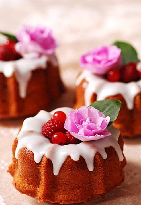 Mini Cake Design Ideas : Mini Bundt Cakes About food and soul... Pinterest