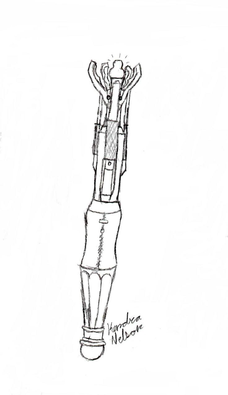 Sonic Screwdriver Drawing | www.imgkid.com - 40.0KB