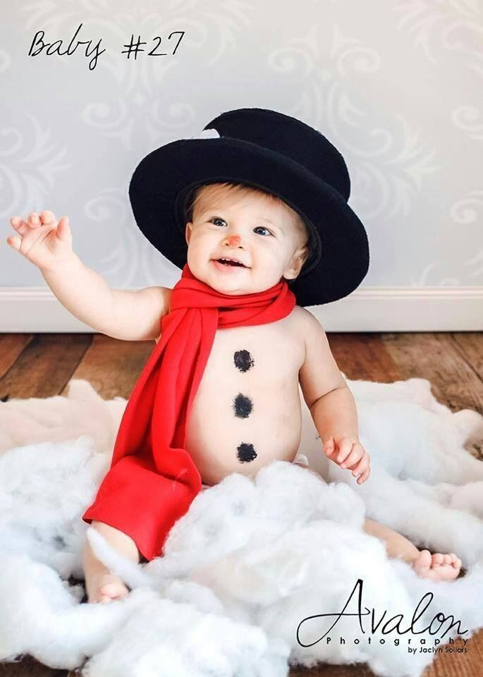 Baby snowman beautiful babies pinterest for Cute baby christmas photo ideas