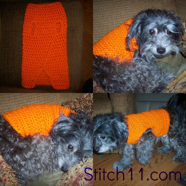 Free Crochet Patterns For Very Small Dogs : Free Crochet Dog Sweater Pattern I love yarn! Pinterest