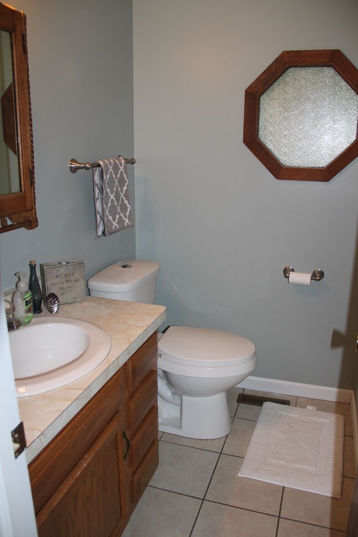 Replacing A Pedestal Sink With A Vanity : ... some artwork. Someday well replace the vanity with a pedestal sink