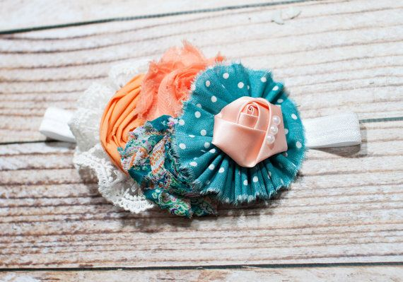 ... in teal, peach, sherbet orange and white by SoTweetDesigns, $13.50