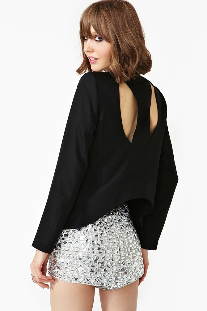 Night Out Blazer in Clothes at Nasty Gal