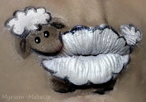 Cute little lamb lips...