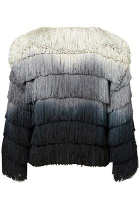 ombré fringed jacket, topshop