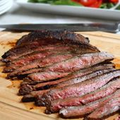 "The Best"" Grilled Marinated Flank Steak -- with dijon, soy, brown ..."