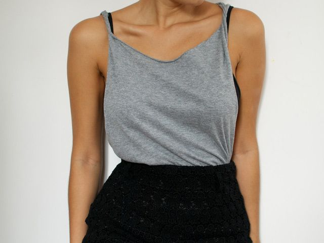 how to make a tshirt into a crop top tank